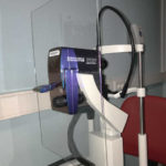 Ecran de protection sur un angiographe-oct
